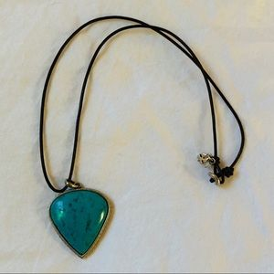 Lucky brand marbled statement pendant necklace